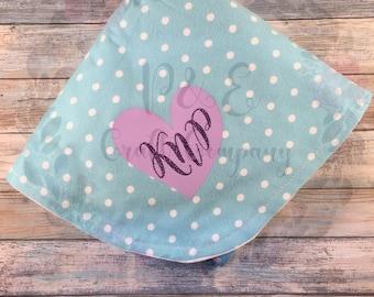 Custom Baby Blanket // Personalized Baby Blanket -- Baby Monogram Blanket