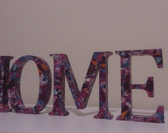 Decorative Decopatch Letters 'HOME'
