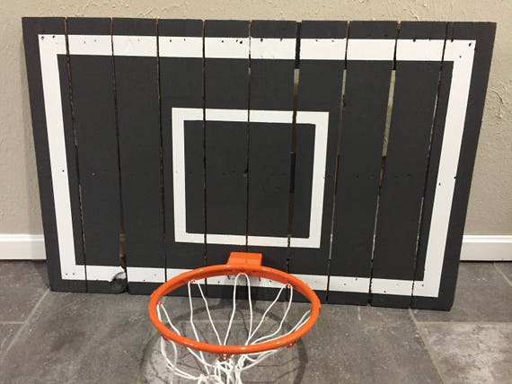 basketball hoop reclaimed pallet wood basketball hoop w high quality rim customize w paint stain colors wall mounting hardware inc