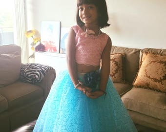 Indo Western Little Girl Gown