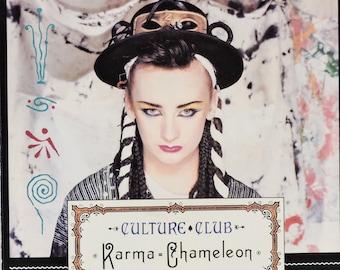"Boy George (Culture Club) Karma Chameleon 45 RPM  7"" Vinyl Record"