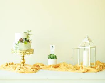 Mustard Wedding Decor | Gauze Table Runner | golden table runner | gauze table runner | wedding linens | wedding tablecloth | gauze runner