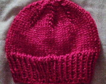 Simple knit newborn cap