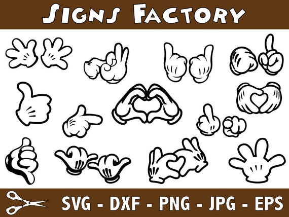 Mickey Mouse Hands SVG Files, Mickey Svg, Mickey Mouse