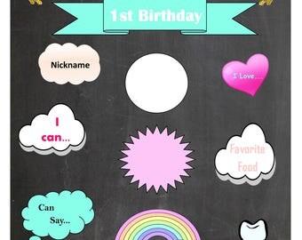 Unicorn Birthday Board