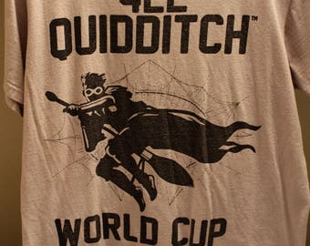 HARRY POTTER Quidditch Shirt L (Large) Grey/Black