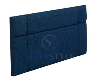 4FT6 Double Hampton Upholstered Headboard - Choose Any Fabric, Also Available In Various Heights