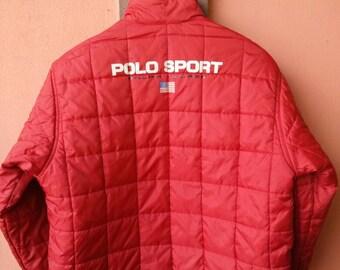 Vintage Polo Sport by Ralph Lauren Down Jacket Reversible Rare
