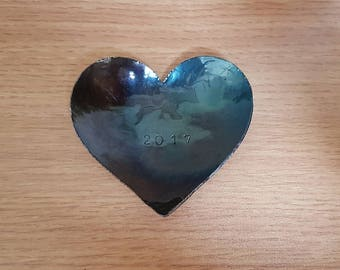 Hand Forged Heart Tray