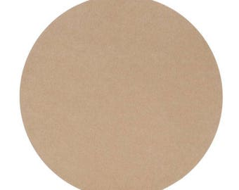 """6 - MDF Circles Shapes 5"""" - 8"""" Diameter 1/4"""" - 3/4"""" Thick Custom Size Made to Order in USA"""