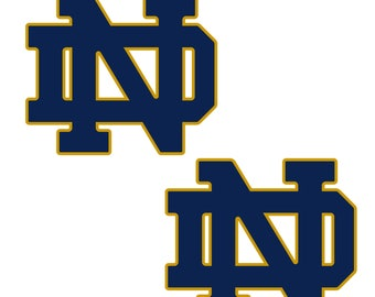 Notre Dame UNIVERSITY 12 inch Wall Cornhole Decals Set of 2 (12 x 10)