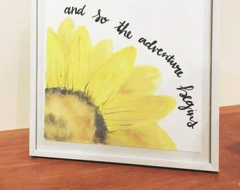 Adventure Sunflower Print
