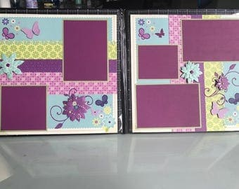 Spring Time in Purple 2 Page Layout