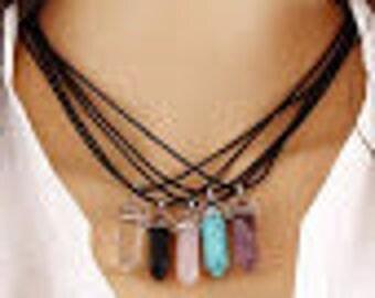 Elegant Natural Crystal Necklace