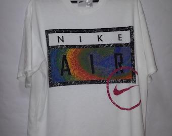 Vintage 90s Nike Tshirt Big Spellout White Tee