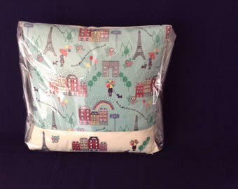 "Paris theme cushion  16""x16"""