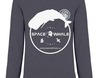 EarthPositive Organic Men's Raglan Sweatshirt: Moby's White Luna