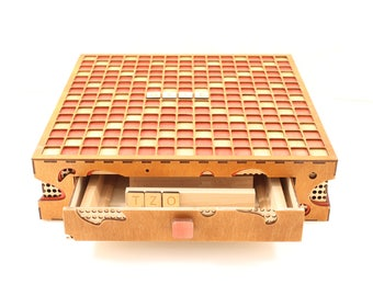 Wooden Scrabble Wood Scrabble Board Games handmade Scrabble wood game wooden board Games wooden Checker Exclusive scrabble wooden game