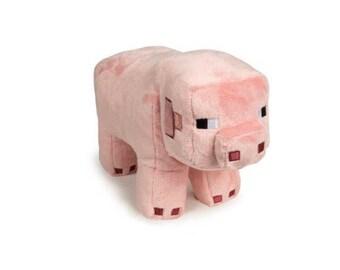 Minecraft Pig Cochon/Ruban Plush stuffed  toy