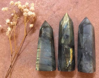 Labradorite Freestanding Crystal Wand Point