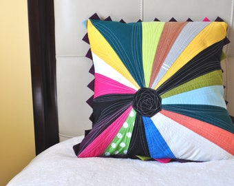 Unique, Quilted, Colorful, Decorative pillow case