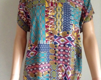 Ethnic summer tunic and printed pineapple 38/40/42/44/46/48