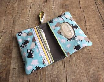 All Aboard Train Diaper Clutch/Diaperclutchbag/ Diaper pouch /mommy clutch/ Diaperbag / Mommy bag