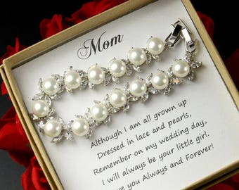 Mother of the Bride gift Mother of the Bride Bracelet Mother of the Groom Gift Wedding Gift for Mom Mother in Law Gift from Bride from Groom