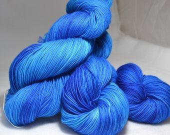 Hand Dyed Sock Yarn - Ocean