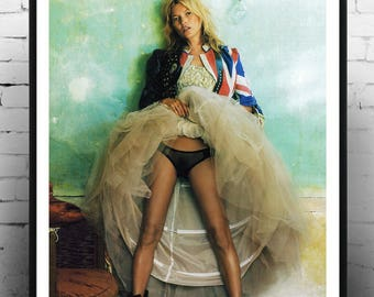 Kate Moss, Fashion print, photography, Gift for her, Model, Print, Gift , Fashion print, Kate Moss