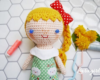 Raining Girl(Crochet doll, Handmade doll)