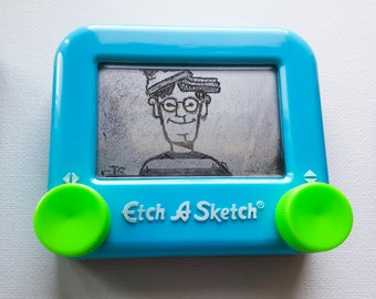 Where's waldo Etch a sketch