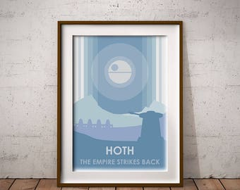 Star Wars : The Empire Strikes Back (Hoth) Art Print