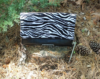 Multicolored Zebra Print Clutch