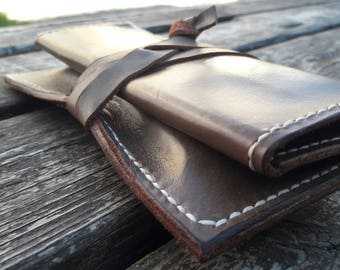 Leather Tobacco Pouch Rolling Tobacco Pouch Leather Tobacco Case  Cigarette Tobacco Pouch Handmade Tobacco Leather Pouch