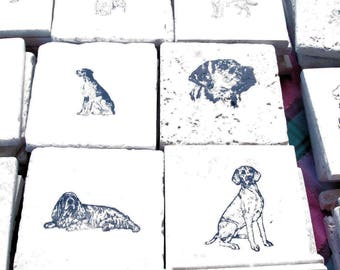 Custom Handmade Natural Stone Coasters, Trivets, and Accent Tiles