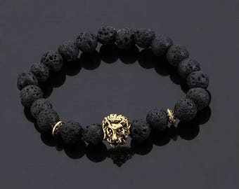 MENS LION BRACLET