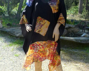 Tunic Ibiza layered look plus-size XL-XXL hippie