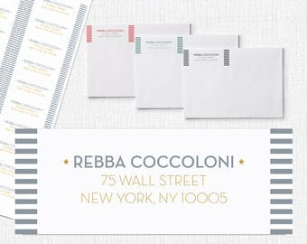 Printable Customized Return Address Labels