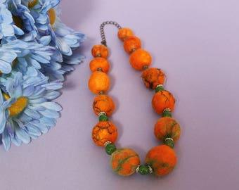 choker style felt necklace