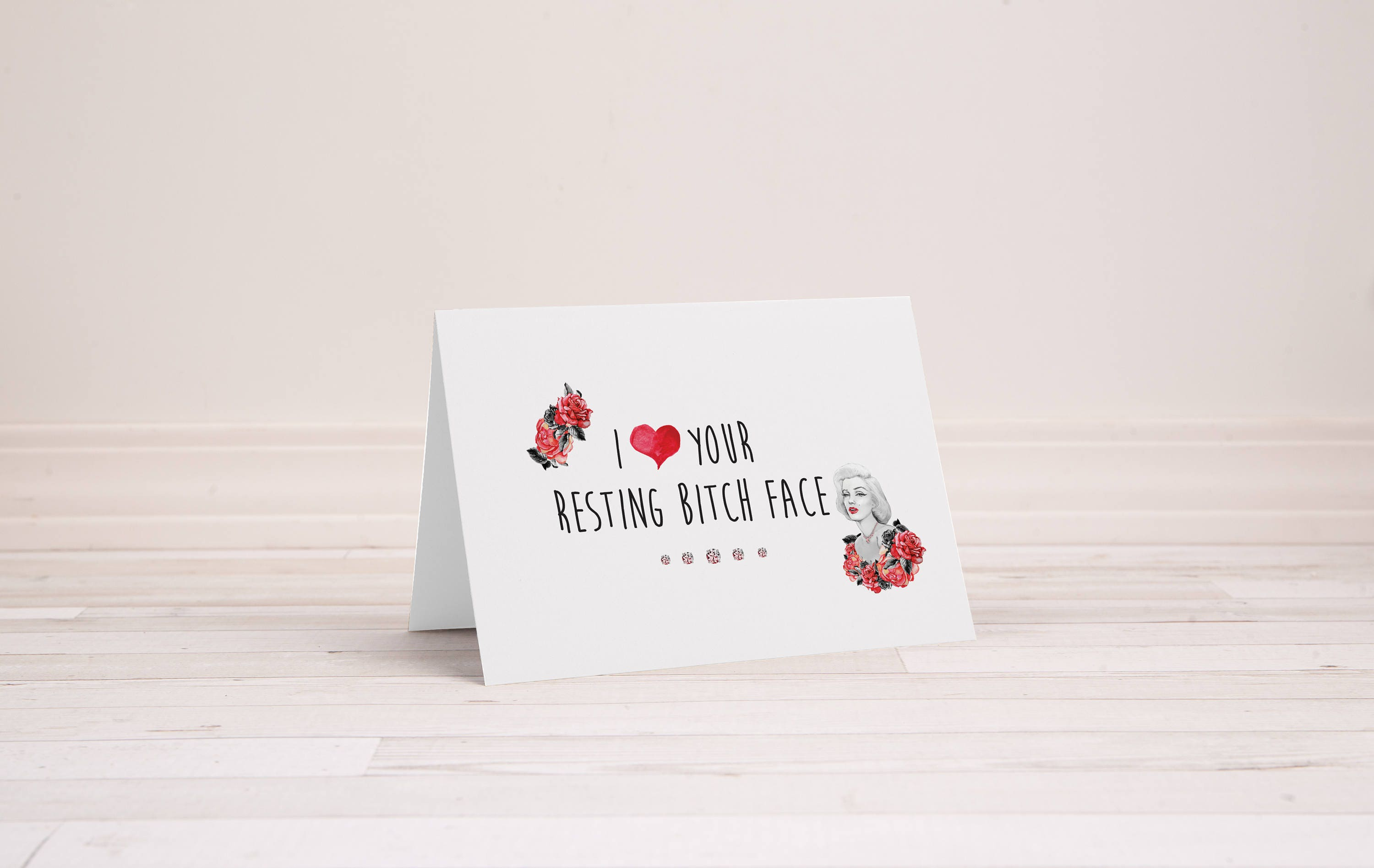 I Love Your Face Greeting Card Rseting B Face Rbf Funny