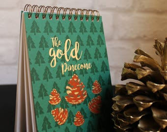Book inspiration nature GOLD PINECON