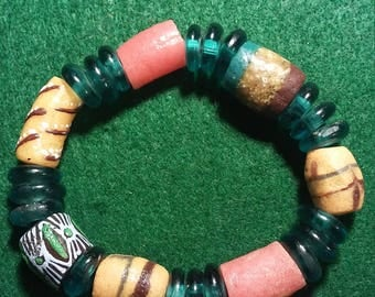 "A must have 8"" elastic beaded bracelet handmade."