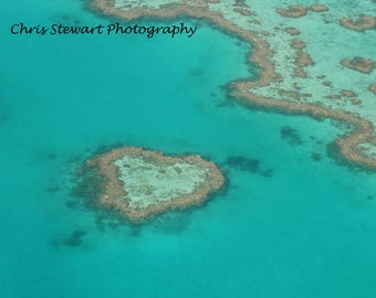 Heart Shaped Reef Whitsundays Great Barrier Reef Queensland Australia Prints & Canvas Prints