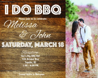 I Do BBQ Personalized Invitation