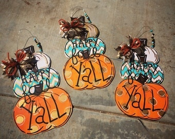 Pumpkin fall Doorhanger