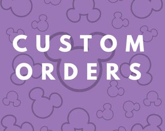 Custom Order Mickey / Minnie Mouse Ears