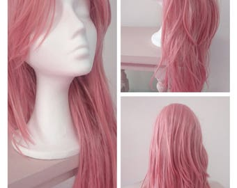 Pastel Pink wig- Hight quality synthetic hair - 60cm