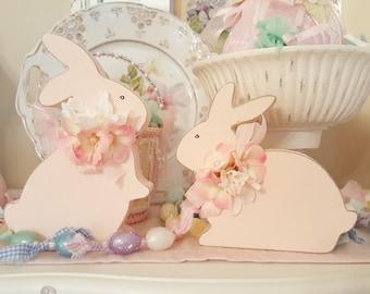 Pink Spring Bunnies Set of 2