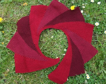 """""""Poppy"""", red wool hand knit scarf"""